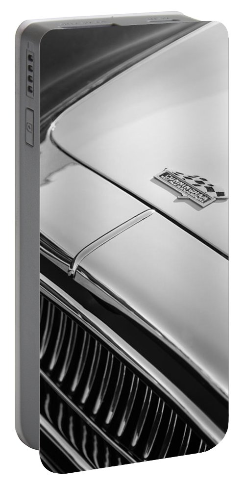 1952 Cunningham C-3 Coupe Hood Emblem Portable Battery Charger featuring the photograph 1952 Cunningham C-3 Coupe Hood Emblem by Jill Reger