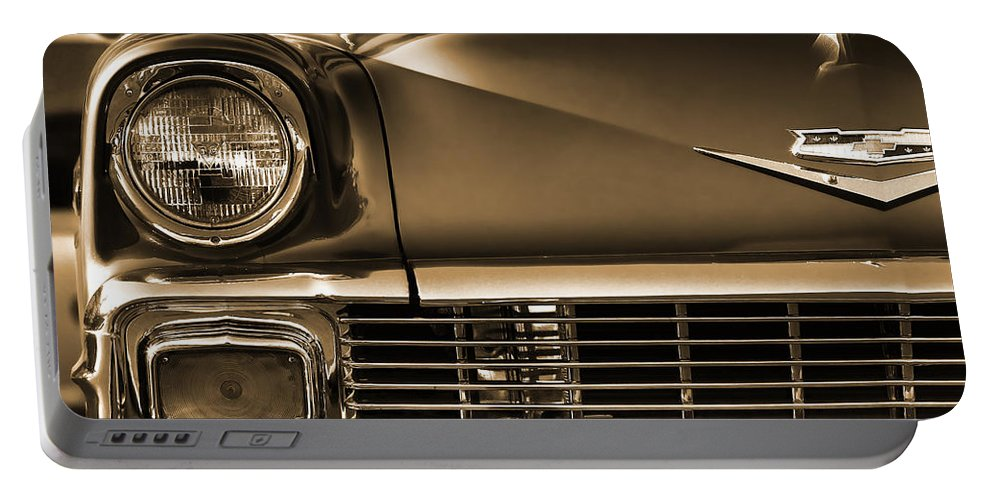 1956 Portable Battery Charger featuring the photograph 1956 Chevy Bel Air by Gordon Dean II