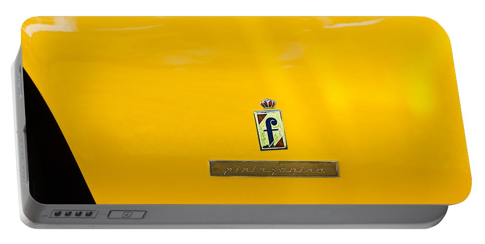 1965 Ferrari 275gts Emblem Portable Battery Charger featuring the photograph 1965 Ferrari 275gts Emblem by Jill Reger
