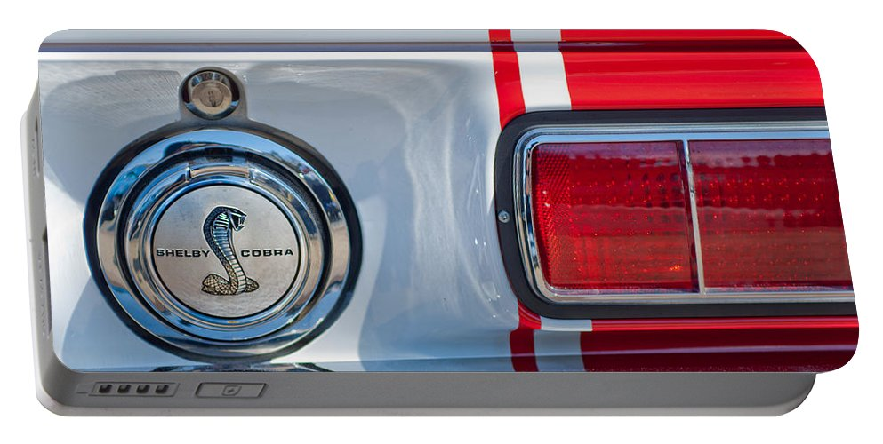 1968 Ford Mustang Fastback 427 Ci - Cobra Emblem Portable Battery Charger featuring the photograph 1968 Ford Mustang Fastback 427 Ci - Cobra Emblem by Jill Reger