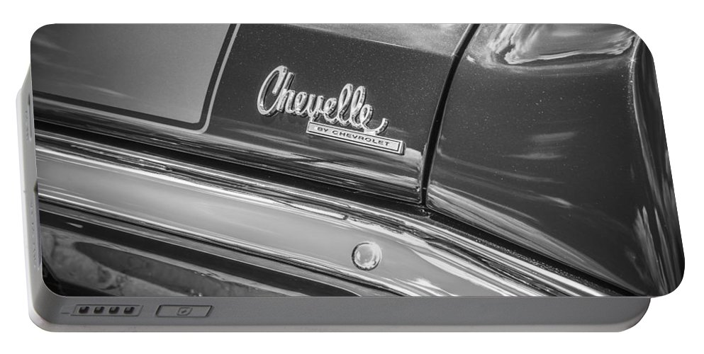 1970 Chevelle Portable Battery Charger featuring the photograph 1970 Chevy Chevelle 454 Ss Bw by Rich Franco