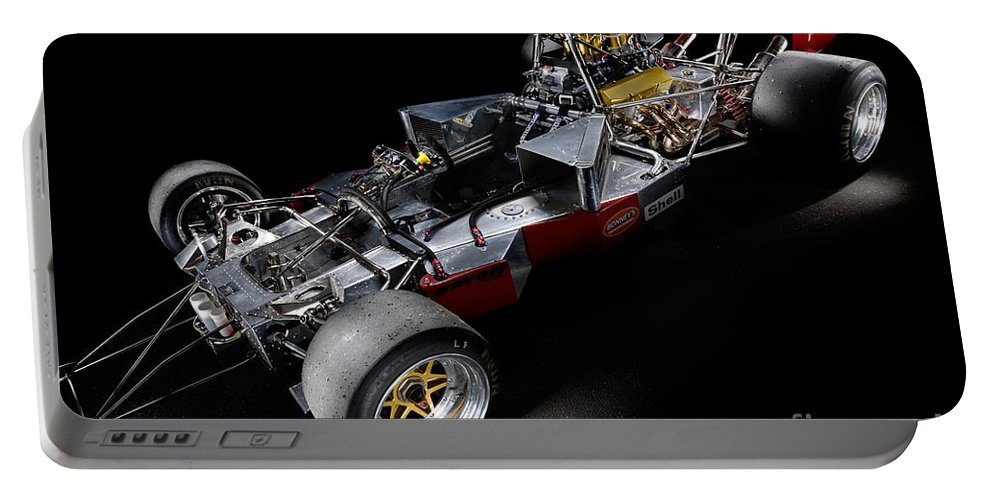 1974 Portable Battery Charger featuring the photograph 1974 Lola T332 F5000 Race Car V8 5 Litre Chassis by Frank Kletschkus