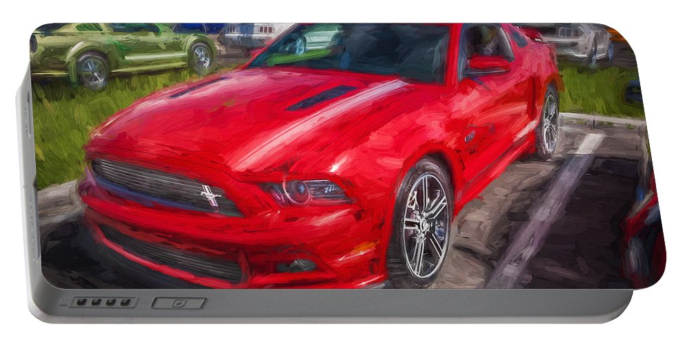 2013 Ford Mustang Portable Battery Charger featuring the photograph 2013 Ford Mustang Gt Cs Painted by Rich Franco