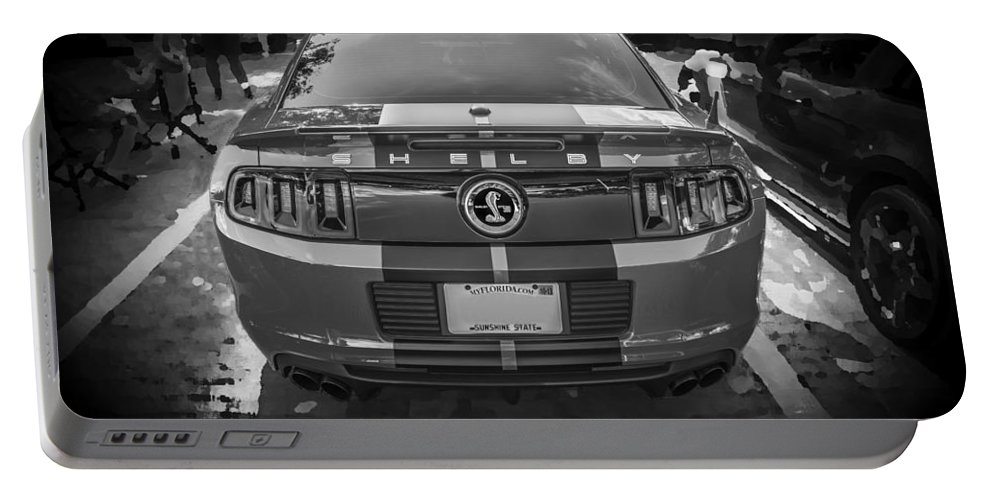 2013 Ford Mustang Portable Battery Charger featuring the photograph 2013 Ford Shelby Mustang Gt500 by Rich Franco