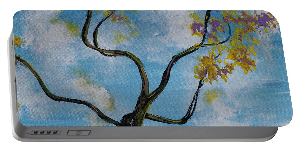 Impressionism Portable Battery Charger featuring the painting A Little All Over The Place by Stefan Duncan