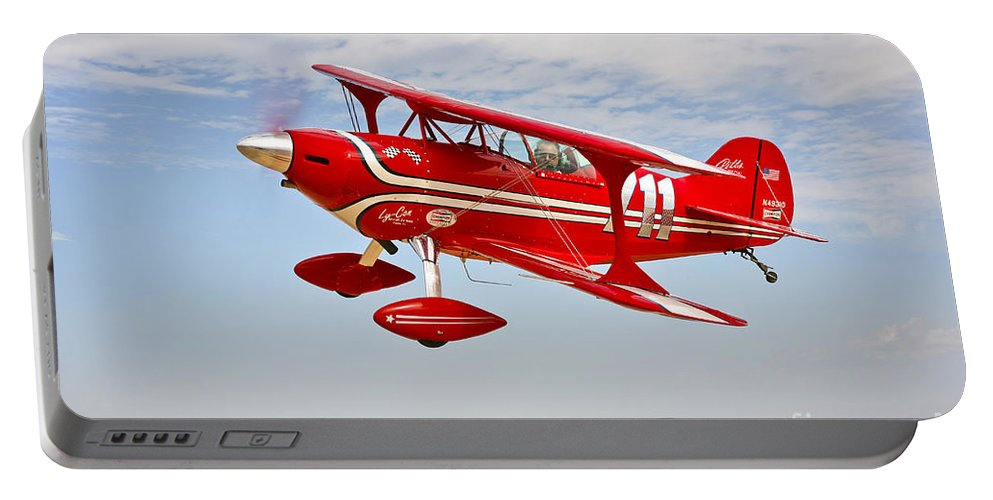 Horizontal Portable Battery Charger featuring the photograph A Pitts Special S-2a Aerobatic Biplane by Scott Germain