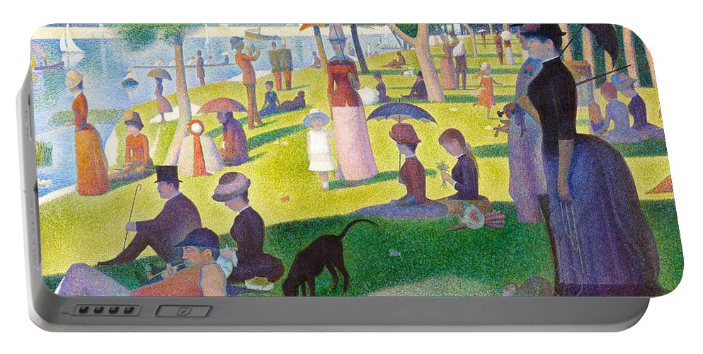 Georges Seurat Portable Battery Charger featuring the digital art A Sunday On La Grande Jatte by Georges Seurat