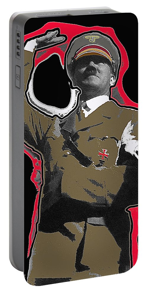 Adolf Hitler Saluting 2 Circa 1933 Portable Battery Charger featuring the photograph Adolf Hitler Saluting 2 Circa 1933 by David Lee Guss