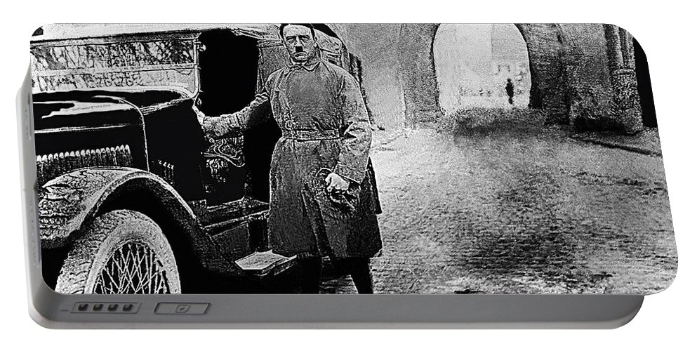 Adolf Hitler Shortly After His Release From Prison 1924 Portable Battery Charger featuring the photograph Adolf Hitler Shortly After His Release From Prison 1924 1924-2012 by David Lee Guss