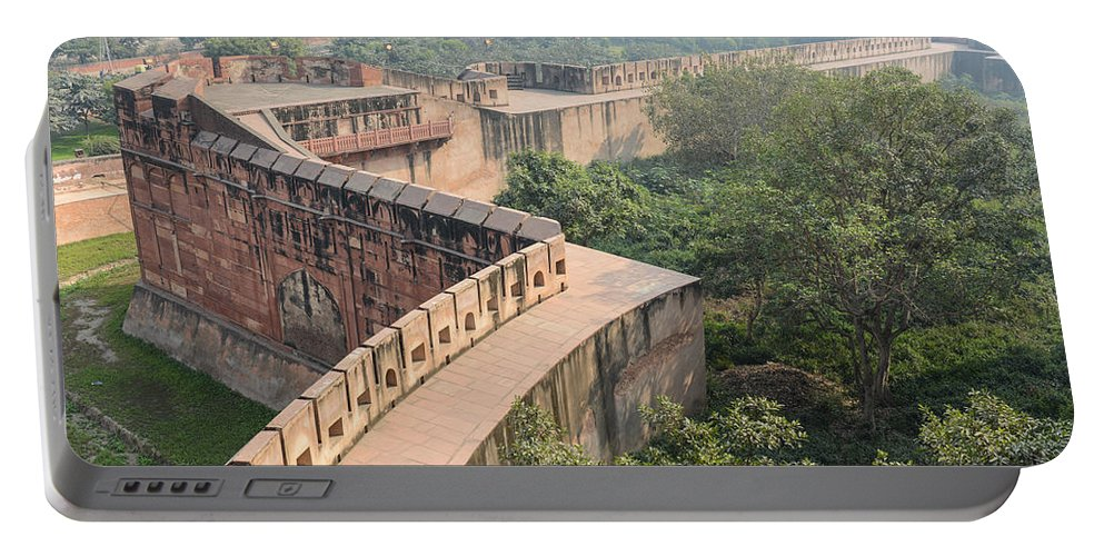 Ancient Portable Battery Charger featuring the photograph Agra Fort Tourist Destination In India by Brandon Bourdages