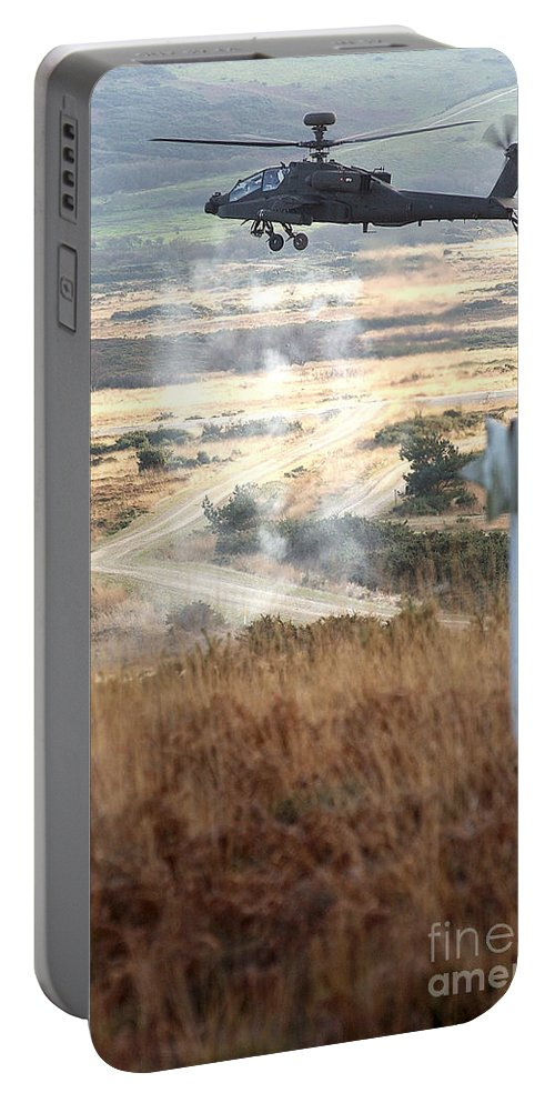 People Portable Battery Charger featuring the photograph Ah64d Apache Longbow Helicopters by Paul Fearn