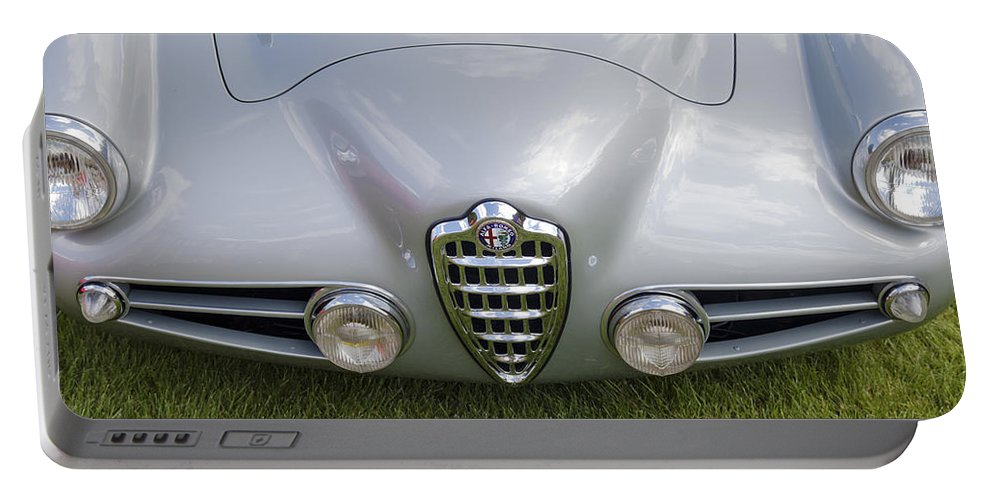 Alfa Romeo Portable Battery Charger featuring the photograph Alfa Romeo 1900 Ss Zagato Berlinetta 1956 by Maj Seda