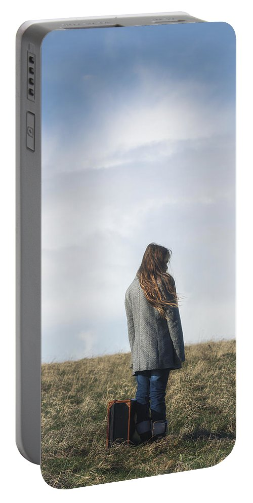 Girl Portable Battery Charger featuring the photograph Alone by Joana Kruse