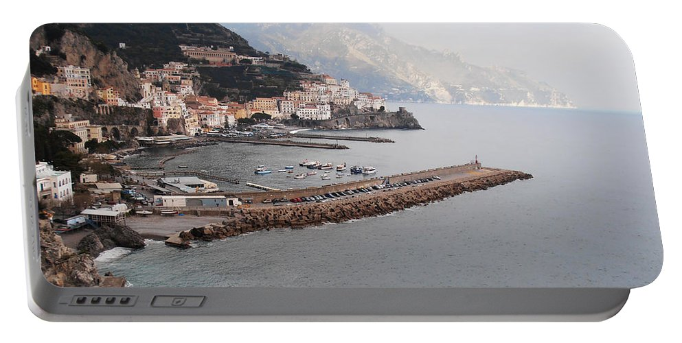 Amalfi Portable Battery Charger featuring the photograph Amalfi Italy by Bill Cannon