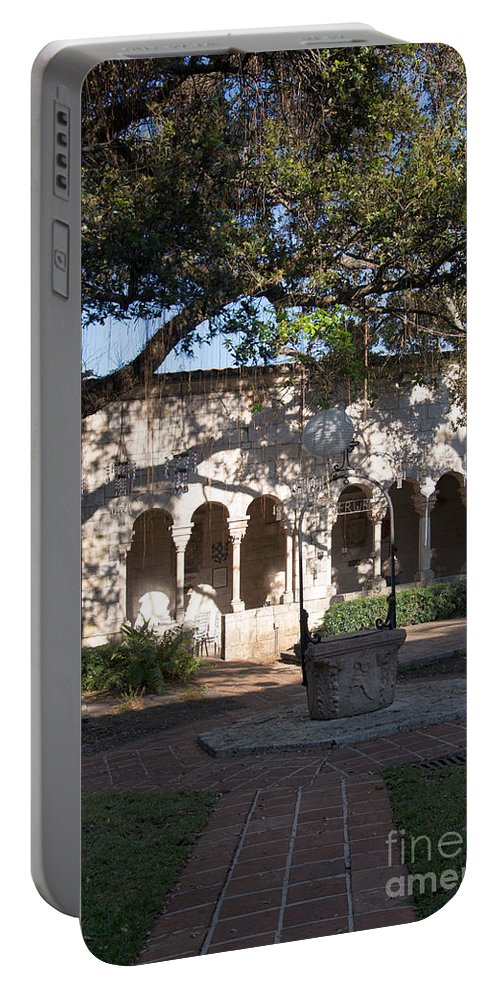 Ancient Spanish Monastery Portable Battery Charger featuring the digital art Ancient Spanish Monastery by Carol Ailles