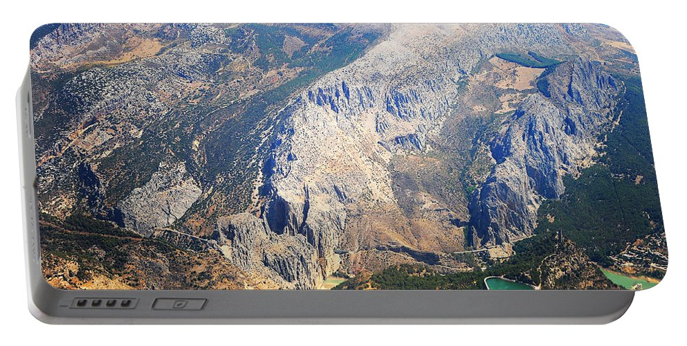 Jenny Rainbow Fine Art Photography Portable Battery Charger featuring the photograph Andalusian Heights. Spain by Jenny Rainbow