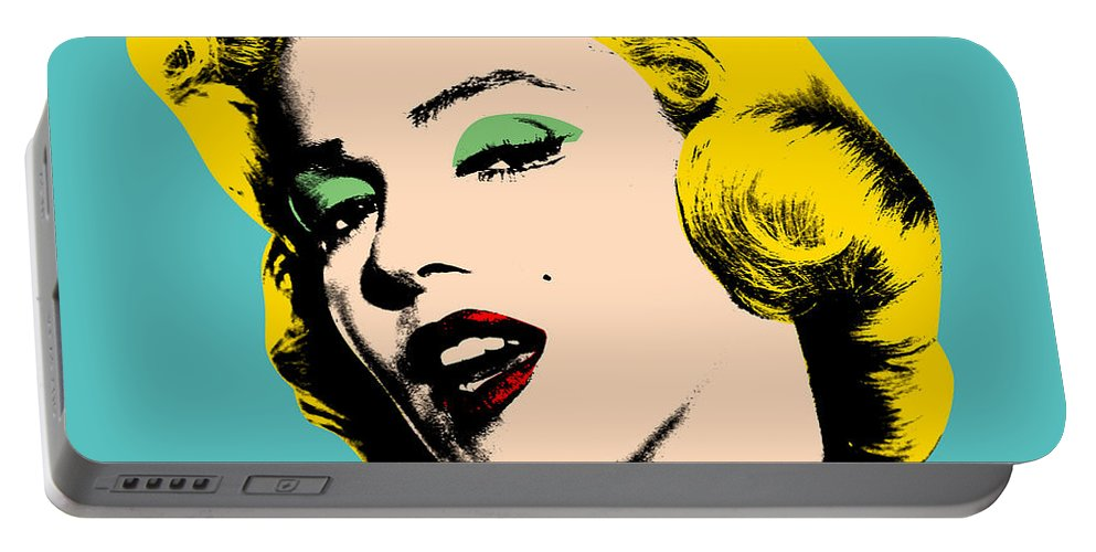 Pop Art Portable Battery Charger featuring the digital art Andy Warhol by Mark Ashkenazi