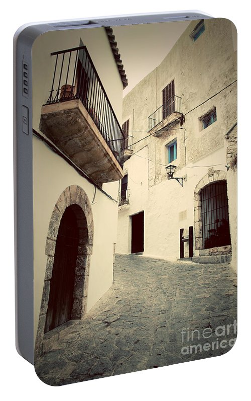 Ibiza Portable Battery Charger featuring the photograph Architecture Of Old City Of Ibiza Spain by Michal Bednarek