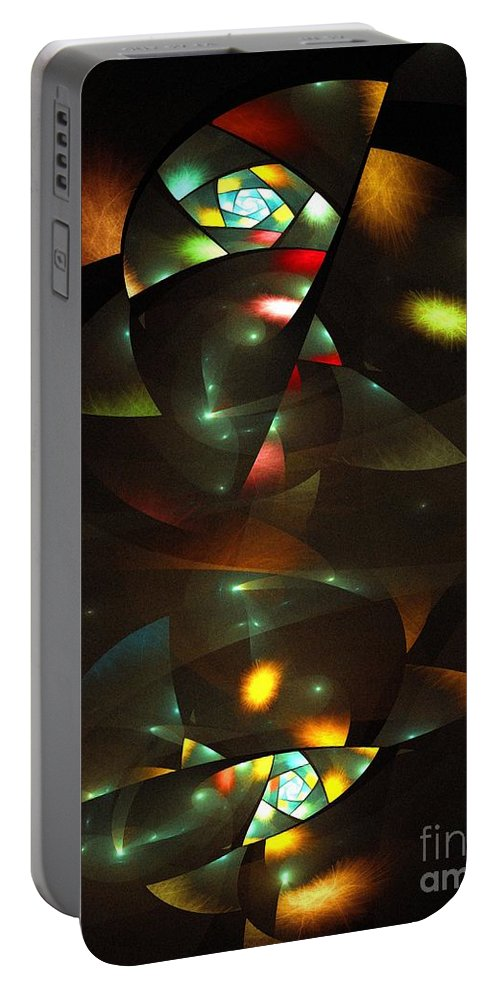 Art Deco Feeling Portable Battery Charger featuring the digital art Art Deco Feeling by Klara Acel