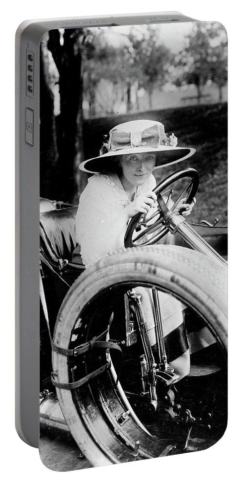 1910 Portable Battery Charger featuring the photograph Automobile, C1910 by Granger
