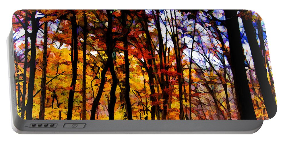 Autumn Forest Portable Battery Charger featuring the photograph Autumn Forest by Douglas Barnard