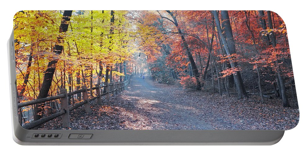 Autumn Portable Battery Charger featuring the photograph Autumn On Forbidden Drive by Bill Cannon
