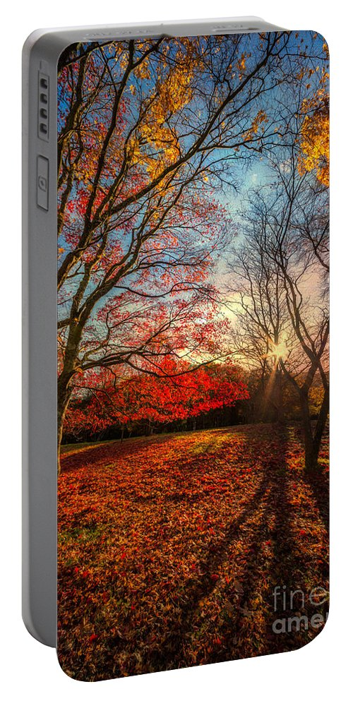 Acer Portable Battery Charger featuring the photograph Autumn Shadows by Adrian Evans