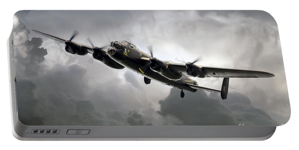 Avro Portable Battery Charger featuring the digital art Avro Lancaster by J Biggadike