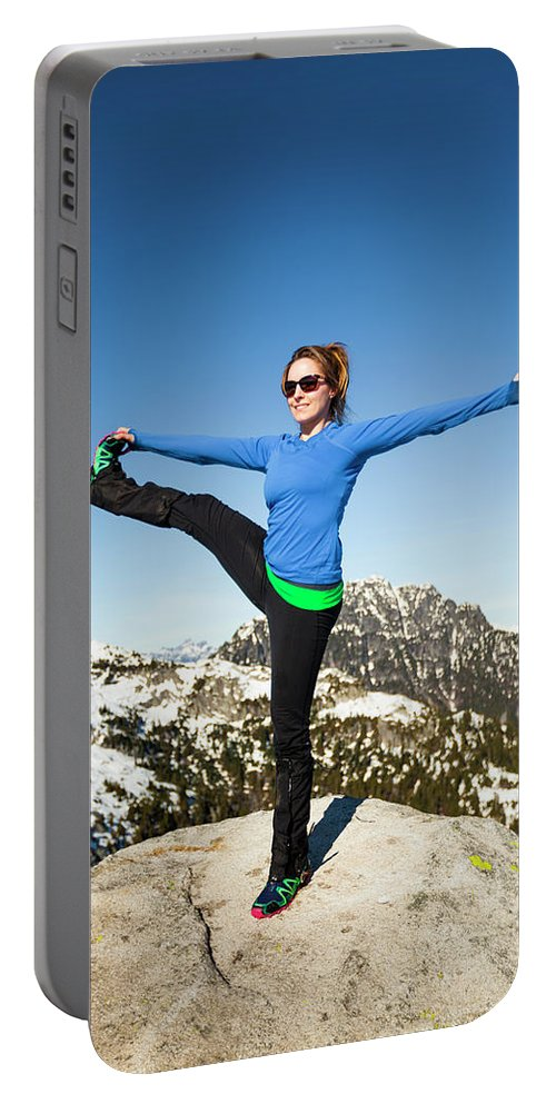 Holding Portable Battery Charger featuring the photograph Backcountry Yoga by Christopher Kimmel