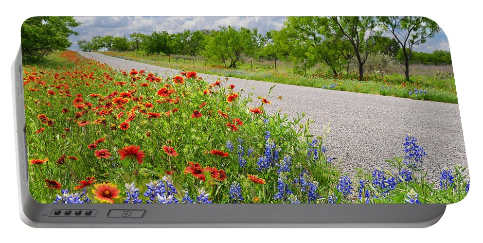 Texas Portable Battery Charger featuring the photograph Backroad Beauty by Lynn Bauer