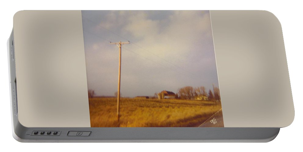 Michigan Barn And Landscape. Portable Battery Charger featuring the photograph Barn And Landscape by Robert Floyd