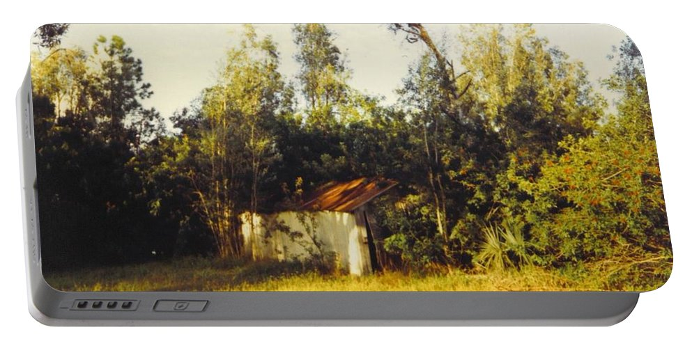 Small Barn Hidden In The Landscape Portable Battery Charger featuring the photograph Barn Landscape by Robert Floyd