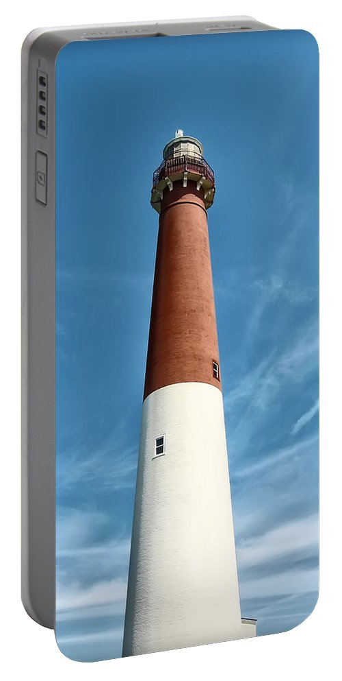 Barnegat Portable Battery Charger featuring the photograph Barnegat Lighthouse by Bill Cannon