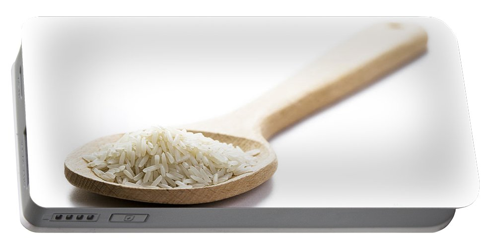 Rice Portable Battery Charger featuring the photograph Basmati Rice by Lee Avison