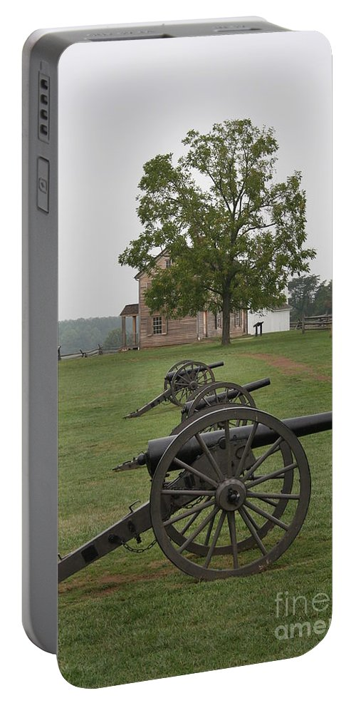 Cannon Portable Battery Charger featuring the photograph Battlefield Manassas by Christiane Schulze Art And Photography