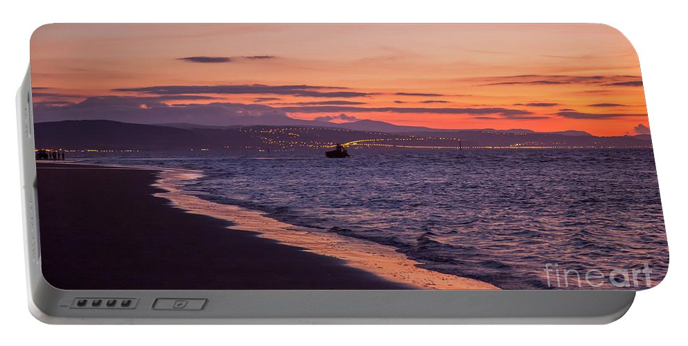 Beach Portable Battery Charger featuring the photograph Beach Sunset by Adrian Evans