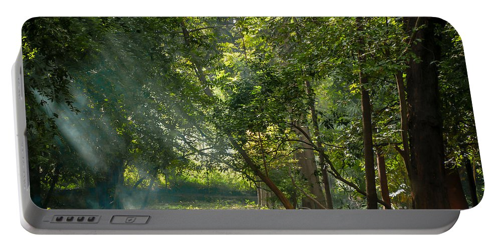 Morning Portable Battery Charger featuring the photograph Beautiful Morning by Kiran Joshi