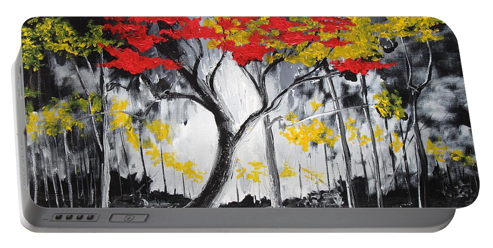 Landscape Portable Battery Charger featuring the painting Behold The Light by Stefan Duncan