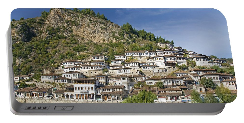 Albania Portable Battery Charger featuring the photograph Berat Old Town In Albania by Jacek Malipan