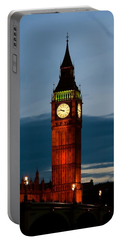 England Portable Battery Charger featuring the photograph Big Ben by Bill Howard