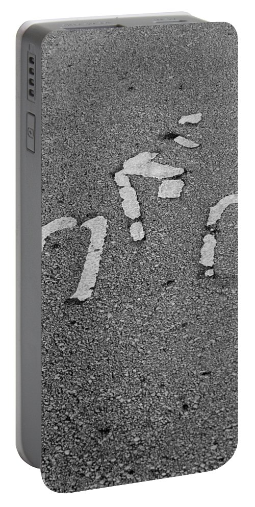 Bicycle Portable Battery Charger featuring the photograph Biker In Black And White by Rob Hans