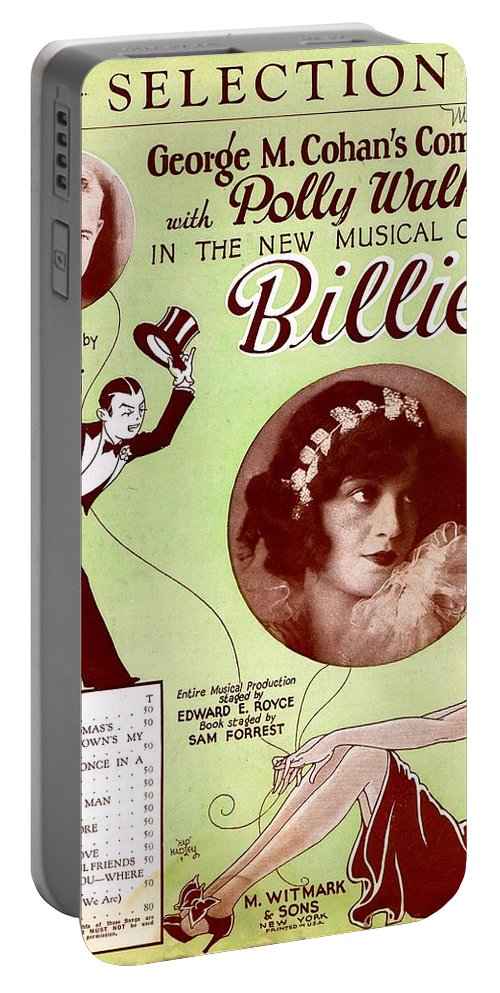 Nostalgia Portable Battery Charger featuring the photograph Billie by Mel Thompson