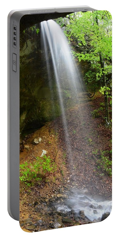 Waterfall Portable Battery Charger featuring the photograph Bluff View by Deanna Cagle