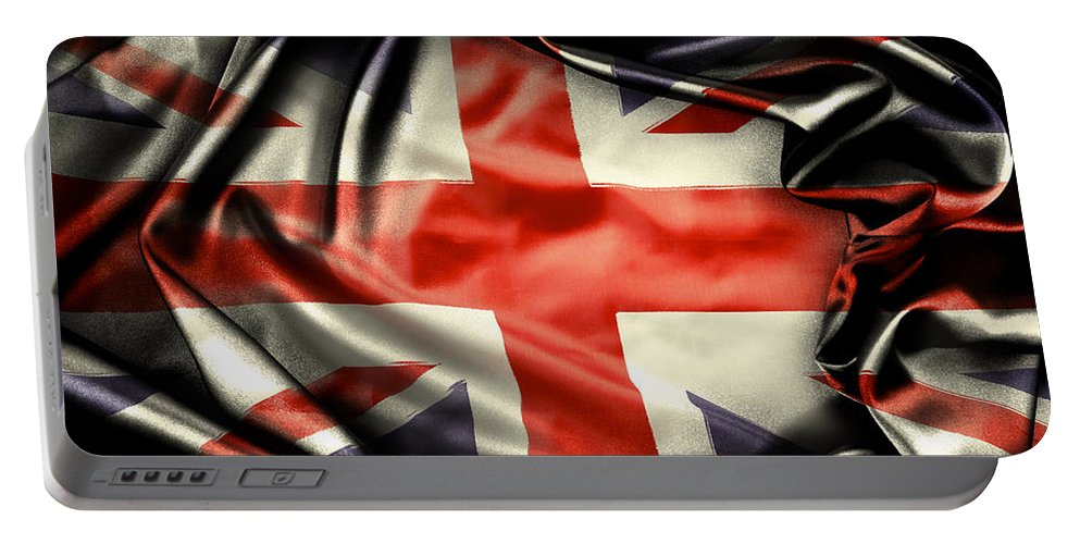 Flag Portable Battery Charger featuring the photograph British Flag 10 by Les Cunliffe
