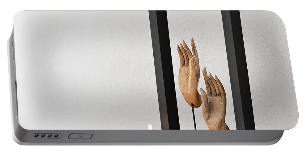 Apartment Portable Battery Charger featuring the photograph Buddhas Hands by U Schade