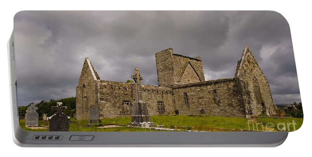 County Mayo Portable Battery Charger featuring the photograph Burrishoole Friary, Ireland by John Shaw