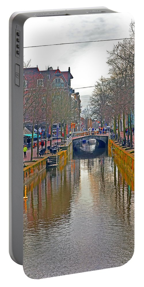 Travel Portable Battery Charger featuring the photograph Canal Of Delft by Elvis Vaughn