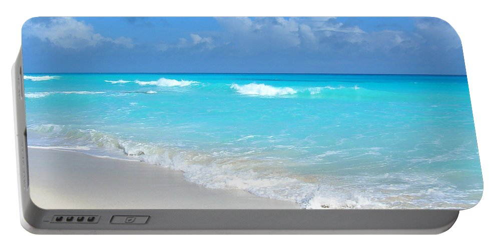 Nature Portable Battery Charger featuring the photograph Cancun Beach by Susan Vincil