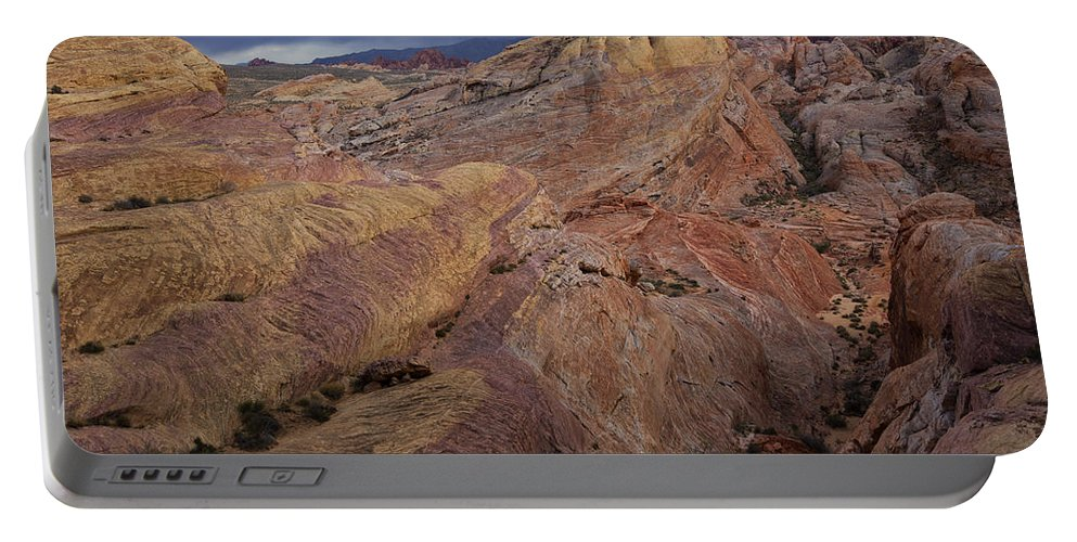 Valley Of Fire Portable Battery Charger featuring the photograph Canyon Glow by Rick Berk