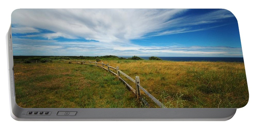Cape Cod Portable Battery Charger featuring the photograph Cape Cod Vista by Lisa Kane